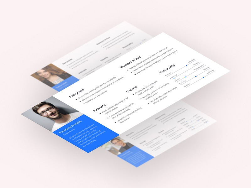 Personas for tech startup isometric ux personas persona