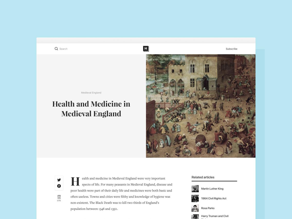 HLS high traffic website overhaul learning blog typography branding website ui ux minimal