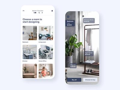AR Interior Design for Apartment design app ui ux