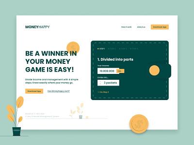 Web Design - Manage Money App app web ui ux design