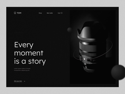 Every moment is a story minimal web ui design