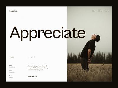 #04 - Appreciate Blog Concept web design
