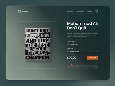 Poster Ecommerce - Webflow Live ecommerce web design animation ui