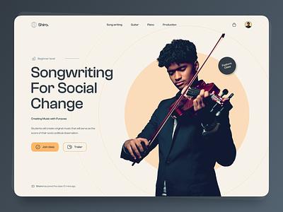 #07 - Music Online School music online shool web web design ui