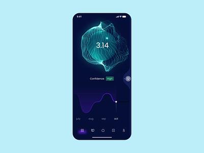 Sphere app mobile 3d motion graphics animation ui
