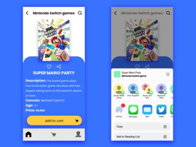 Daily UI | Social Sharing videogames sharing socialsharing social uichallenge dailyui daily 100 challenge ui design