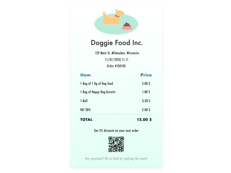 Daily UI | Email receipt email receipt email dailyui uichallenge ui daily 100 challenge design