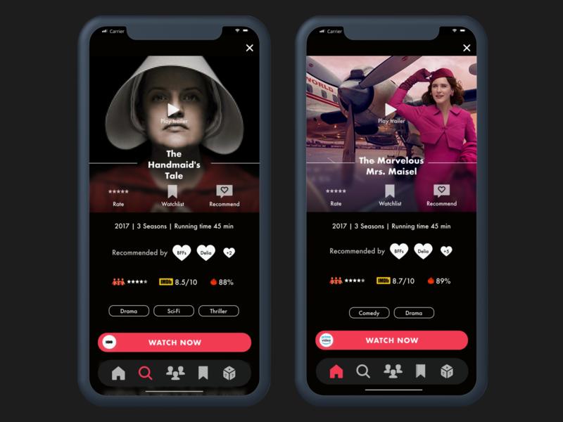 Daily UI | TV app streaming app streaming tvapp uichallenge daily 100 challenge ui dailyui design