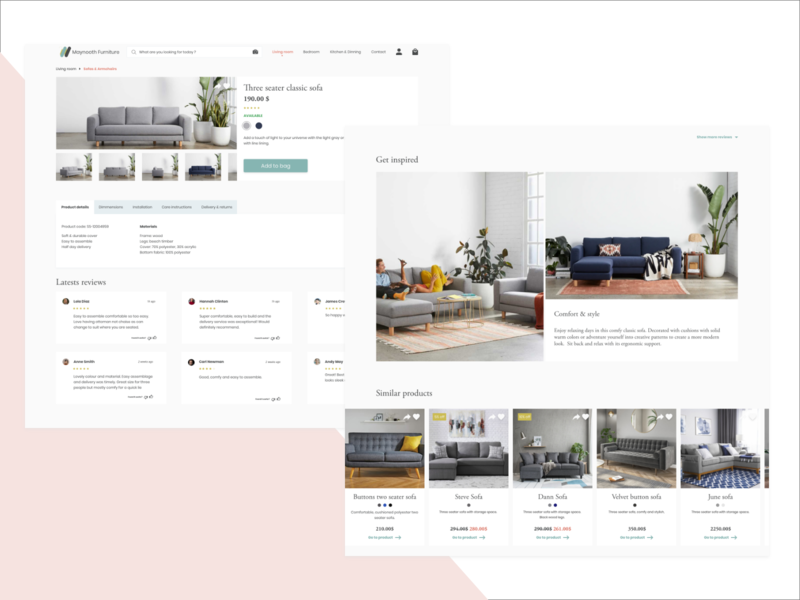 Furniture online store website furniture store ecommerce onlinestore furniture ui design