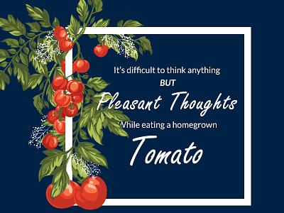 The Tomato rebound vinnys tomato verse saying quote