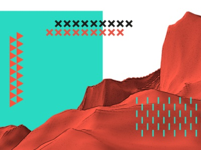 Solid 3d branding space illustration admind pattern mountain solid