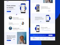 NEW-S App Landing Page Design (Full Design)