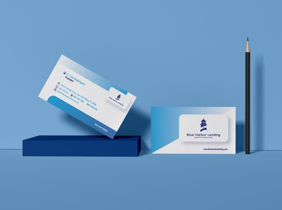 Blue Harbor Lending - Business card Mockup