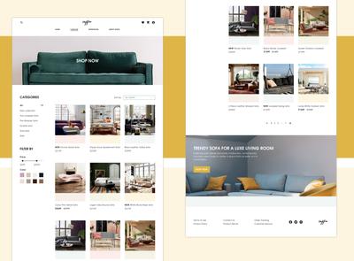 Soffa Online Store Website Design (Catalog Page)