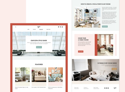 Soffa Online Store Website Design (Inspiration Page)