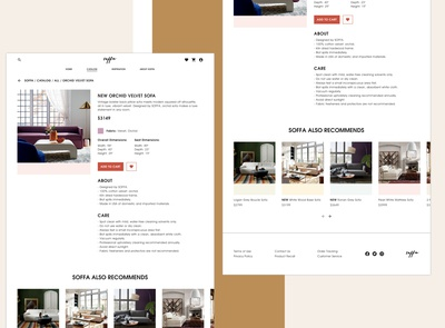 Soffa Online Store Website Design (Product Page)