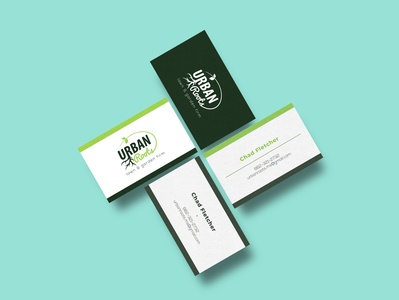 Urban Roots - Business Card Mockup