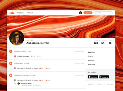 SoundCloud Website Redesign Concept - User Page