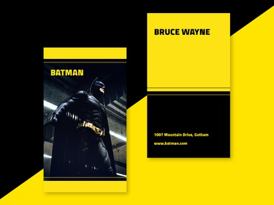 BATMAN Business Card for Dribbble Weekly Warm-Up