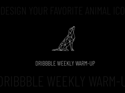 Dog icon for Dribbble Weekly Warm-Up