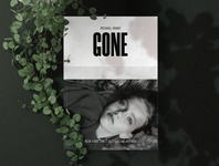 GONE Book Cover Design Concept for Dribbble Weekly Warm-up