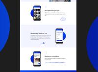 NEW-S App Landing Page Design (Features)