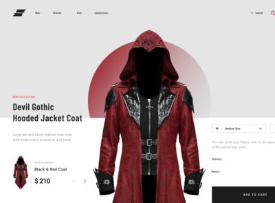Minimalistic e-shop design