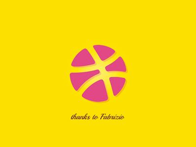 Dribbble thanks yellow