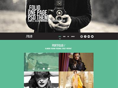 .Folio - free .psd porfolio template psd template free freebies website portfolio creative flat