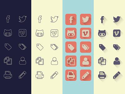 Uncreativelab Icons icons free freebies flat