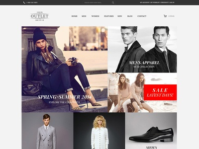 Outlet - .Psd eCommerce Template template ecommerce psd outlet store