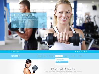GYMSports Free .PSD Template free freebies template psd website web design