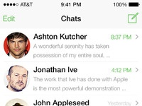 Ios 7 whatsapp redesign chats