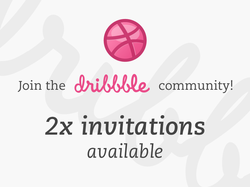 Get an invitation! giveaway like follow twitter win draft prospect invitation invite dribbble community join