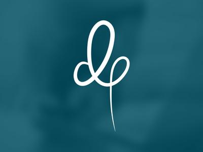 dp| Logo typo typography brand logo branding personal identity handwritten