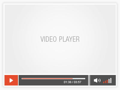 HTML5 Video Player modern video player fresh css html5