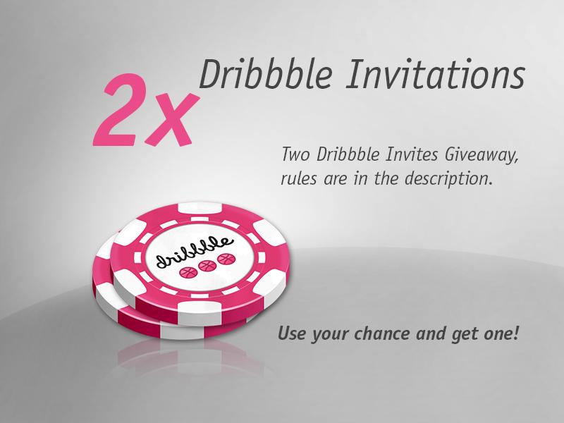 Dribbble Invites photoshop dribbble invite invites invitation prospect draft win twitter follow like lottery giveaway chance poker chips