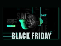 black friday Landing Page Banner