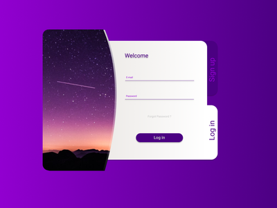 Daily UI #001 - Sign up - Space space figma argentina challenge daily ui login screen login page login form login daily ux ui