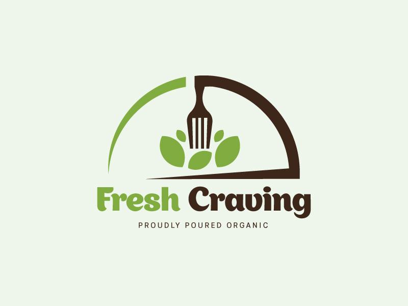 Fresh Craving food logo green branding vector creative restaurant logo logo logo design food