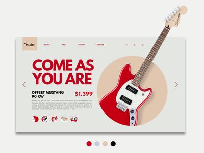 FenderShop Ui Concept