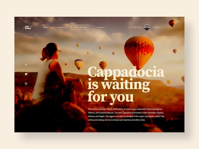 Travel to Cappadocia - UI concept