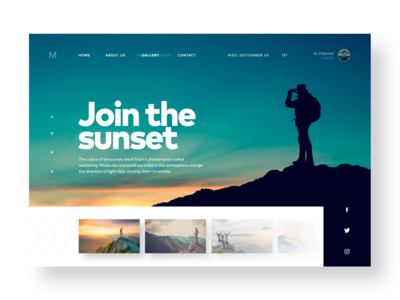 Join the Sunset - UI concept