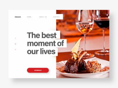 Restaurant - UI concept
