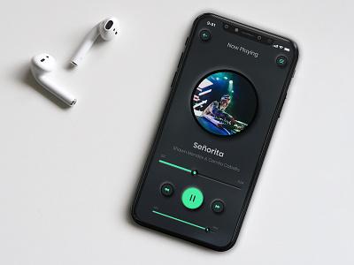 Music player UI design music player ui music app ios dark skeumorphic music music player ux ui ux adobe xd