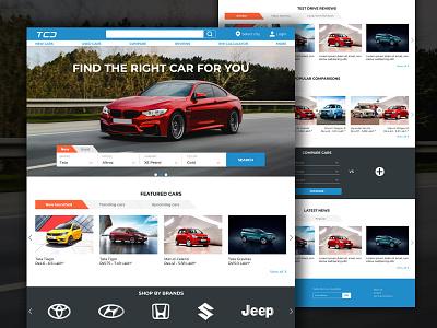 cars website website design car website car blog buy sell cars landing page homepage web design adobe xd ui design