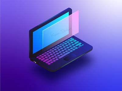 Isometric laptop illustration design graphic design 3d laptop adobe illustrator isometric isometric illustration illustration