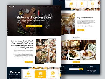 Restaurant website french ui design web design website homepage landing page restaurant website restaurant adobe xd ui ux