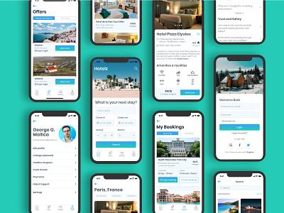 Hotelz- Hotel Booking App holiday holiday app app ui design iphone app ios app app design hotel room travel booking app hotel booking app hotel app ios adobe xd ui ux