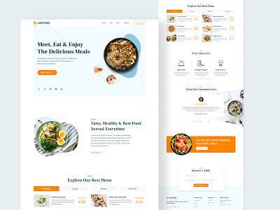Restaurant website adobe xd ui ux figma hompage design website food restaurant landing page ux